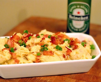 Beer Cheese Loaded Mashed Potatoes