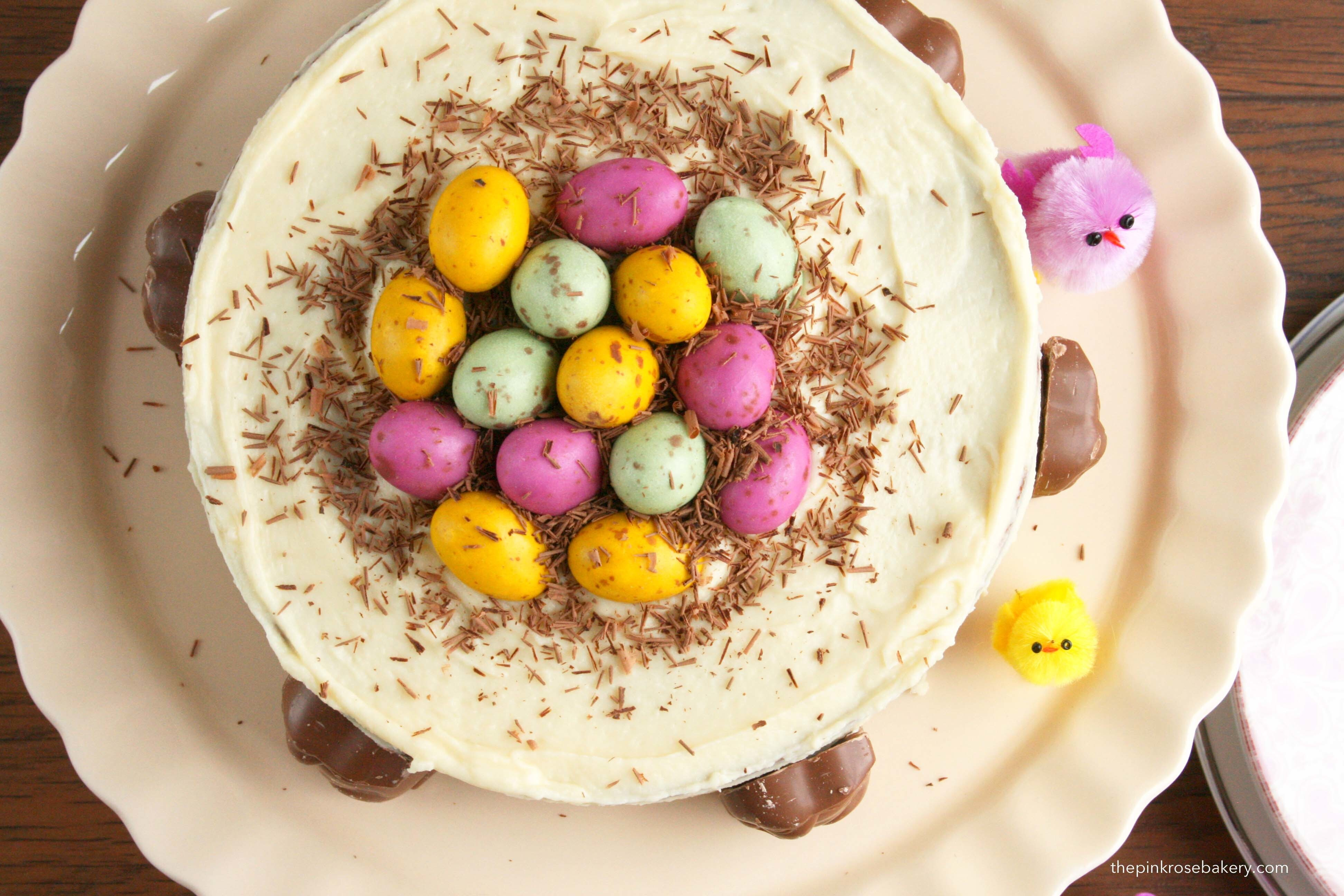 Easter Nest Cake with Guardian Bunnies