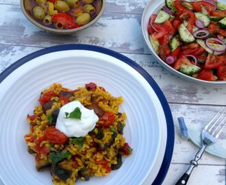 Persian-Style Vegetarian Mixed Rice with Aubergine