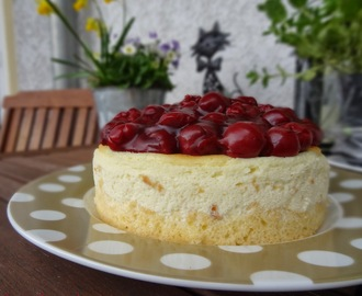 New York Cheesecake with Cherries