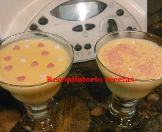 Natillas de chocolate blanco con thermomix