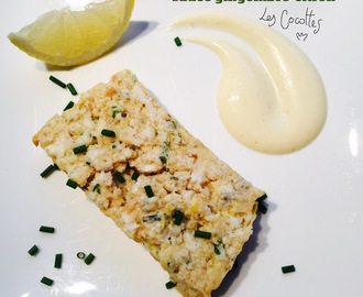 Terrine de poisson blanc, sauce gingembre-citron