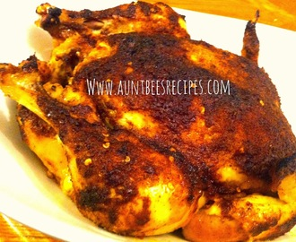 Brown Sugar Chili Rubbed Roasted Chicken