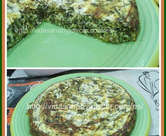 Tortilla al queso de espinacas light