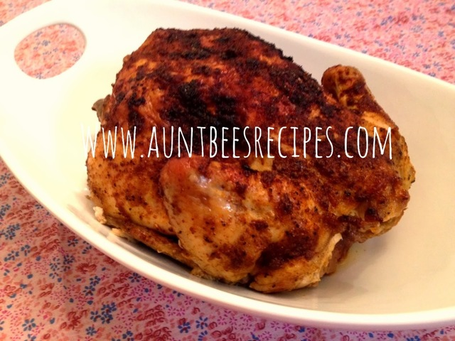 Roasted BBQ Chicken With Homemade Spice Rub