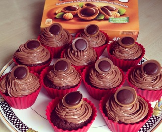 Toffifee Cupcakes mit Nutella Topping