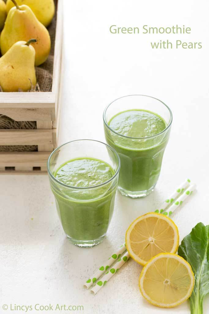 Green Smoothie with Pears