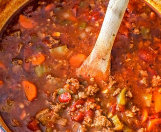 Keto Steak and Sausage Chili