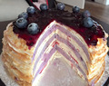 Blueberry cheese Mille crepe cake