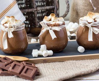 Mousse de Chocolate al Caramelo y Marshmallow