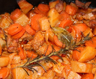Slow cooker navarin of lamb