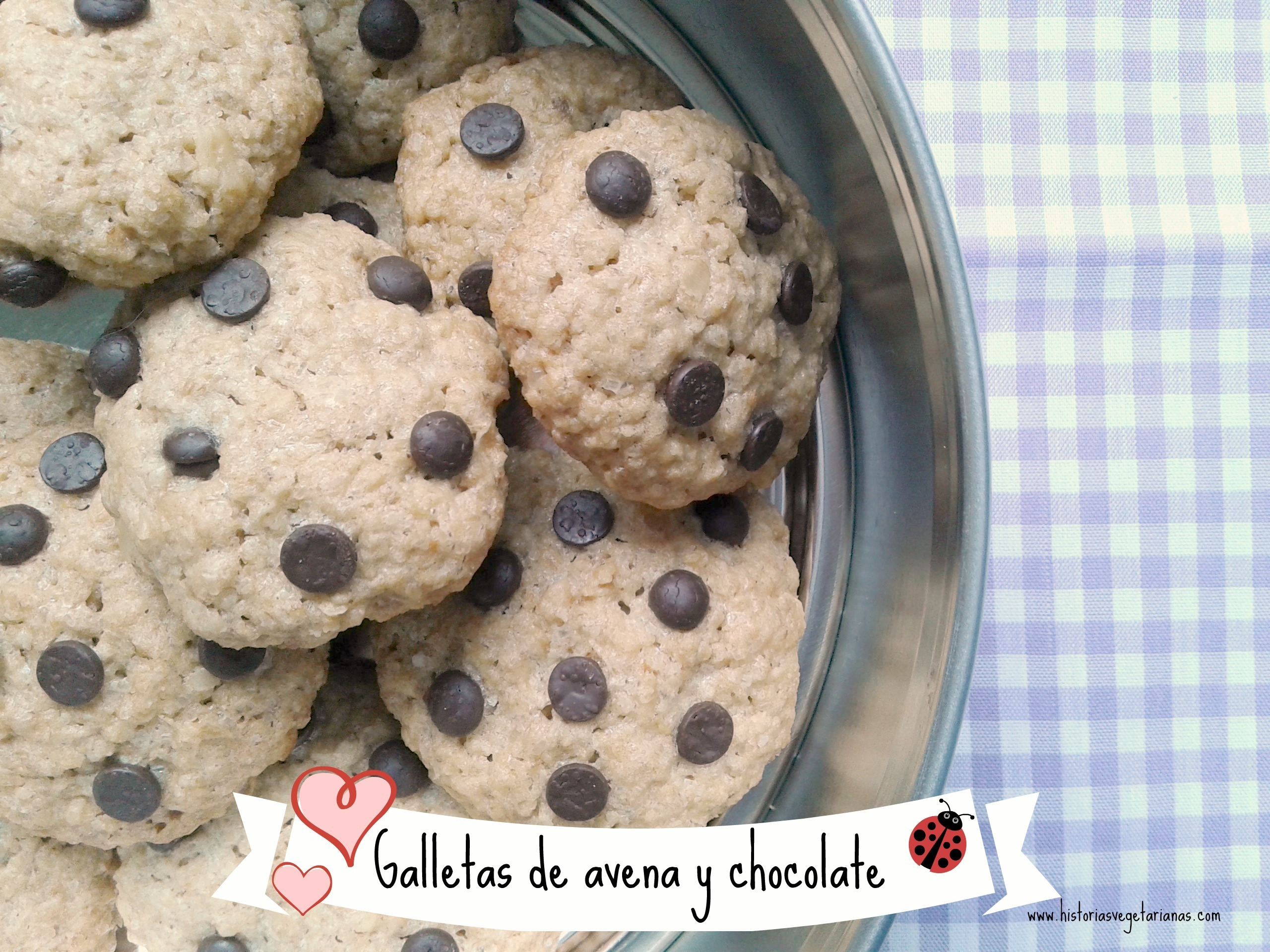 Las galletas de avena con pepitas de chocolate de mi mini chef