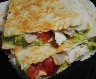 Chicken, Bacon and Avocado Tortilla Toasties Recipe