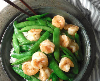 Honey Lime Shrimp with Sugar Snap Peas