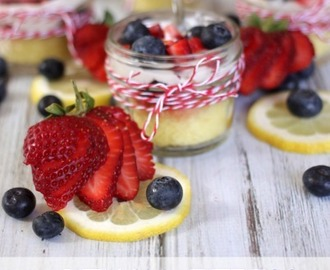 Lemon Berry Trifle with Lemon Curd Whipped Cream