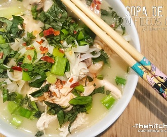 SOPA DE POLLO CON FIDEOS CHINOS (Chicken noodles soup)