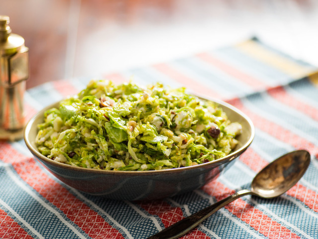 Salt-Wilted Brussels Sprout Salad With Hazelnuts and Goat Cheese Recipe