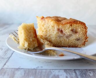 Gluten free rhubarb and custard cake recipe