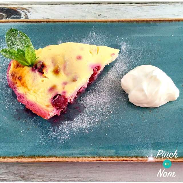 Low Syn Cherry & Almond Clafoutis | Slimming World