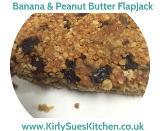Peanut Butter & Banana Flapjacks Recipe