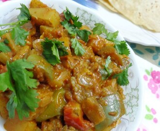 Aloo Baingan Sabzi/Eggplant Potato curry