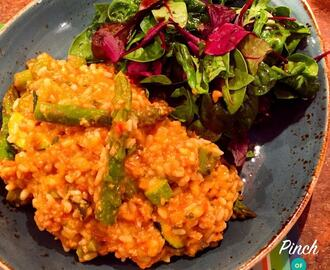 Low Syn Spicy Tomato, Chicken & Asparagus Risotto | Slimming World