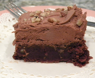 Fudgy Brownies with Fudge Frosting
