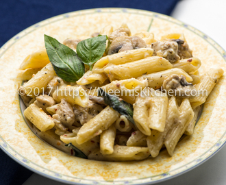 Chicken Pasta in White sauce/ Creamy Chicken Pasta - MeemisKitchen
