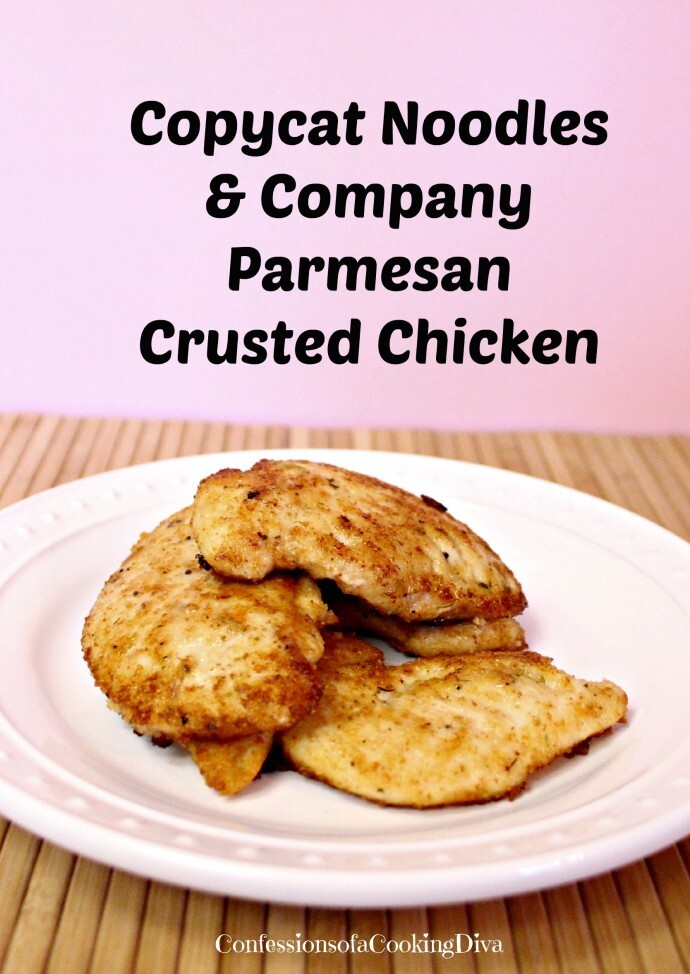 Copycat Noodles & Co. Parmesan Crusted Chicken