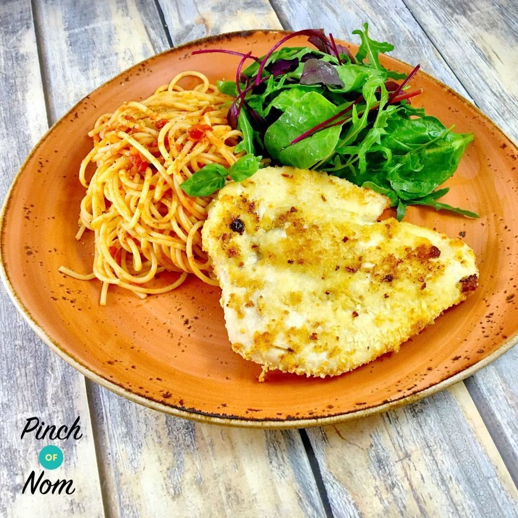 Low Syn Chicken Milanese with Spaghetti Pomodoro | Slimming World