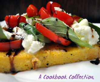 Grilled Polenta with Caprese Salad