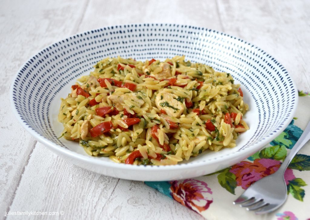 Chicken and Pepper Orzotto