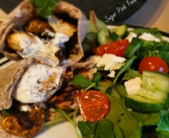 Slimming World Friendly Recipe- Marinated Chicken Tikka Kebabs with Creamy Mint Sauce