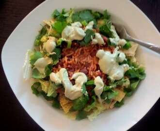 Bean and Rice Taco Salad