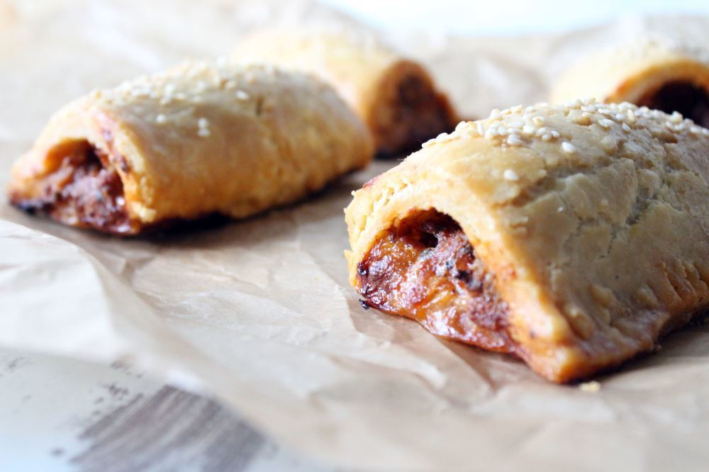 Gluten free spicy sausage roll recipe