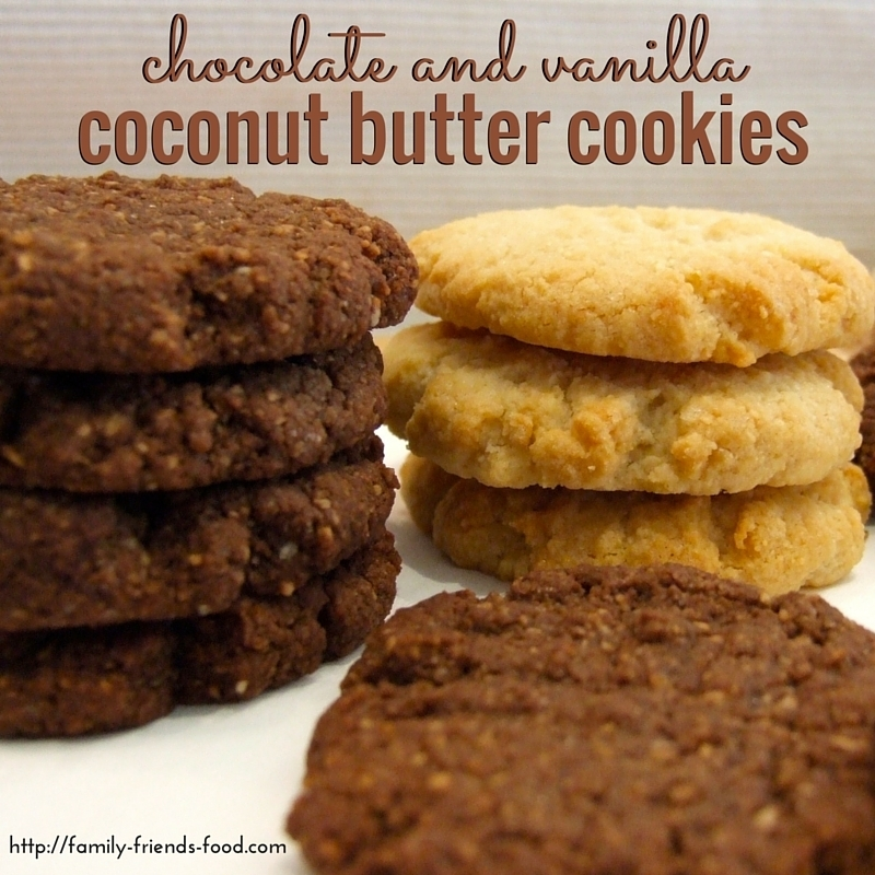 Chocolate & vanilla coconut butter cookies – nut, gluten & dairy free