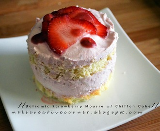 Another Cake Story: Chiffon Cake with Balsamic Strawberry Mousse