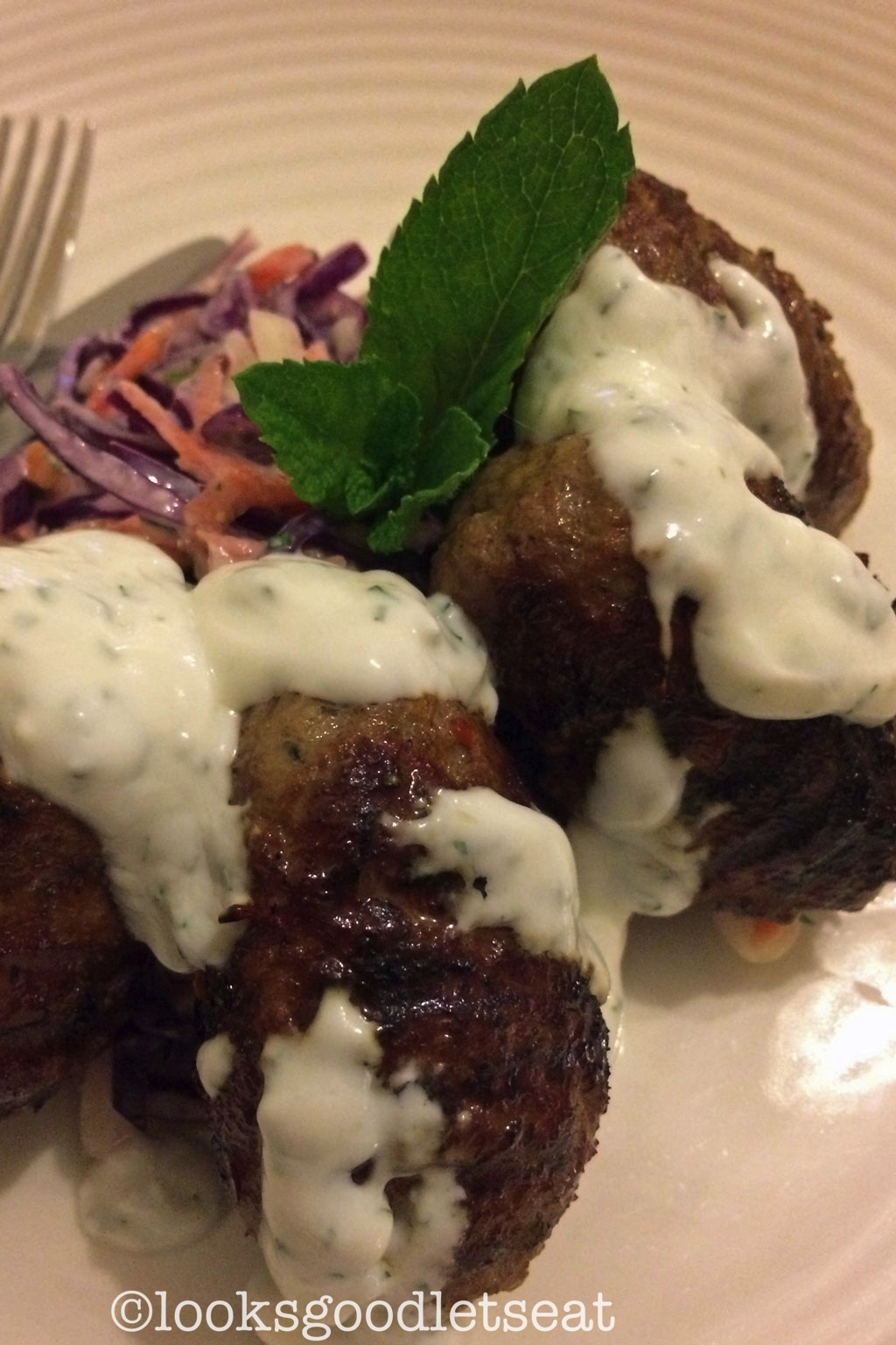 Lamb Kofta and Mint Yoghurt Dressing