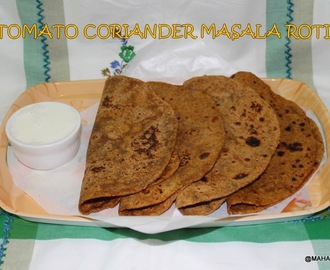 Tomato coriander leaves masala roti/Tomato cilantro spiced paratha/Easy indian dinner recipes/South indian easy and healthy recipes/indian flat bread recipes/Step by step pictures/Tomato health benefits