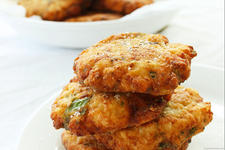 Baked Cauliflower Fritters