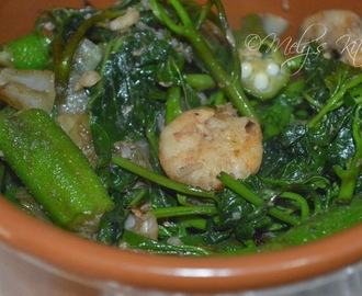 Ginisang Talbos ng Camote at Okra