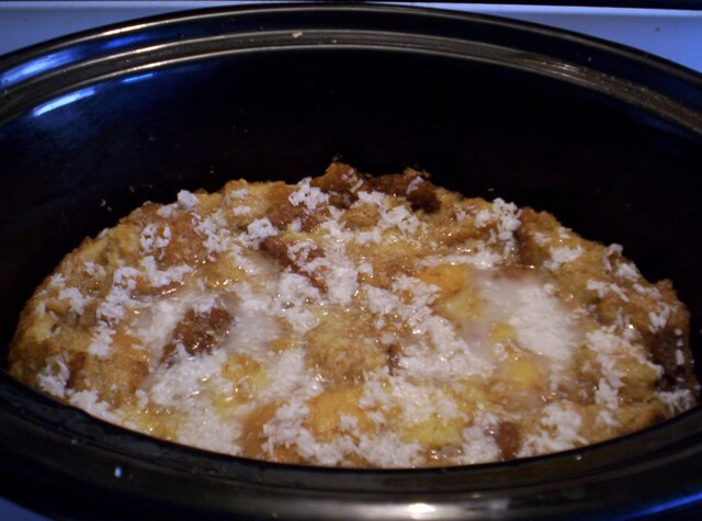Slow Cooker Coconut Bread Pudding