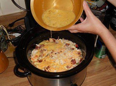 Breakfast casserole in the crock pot!