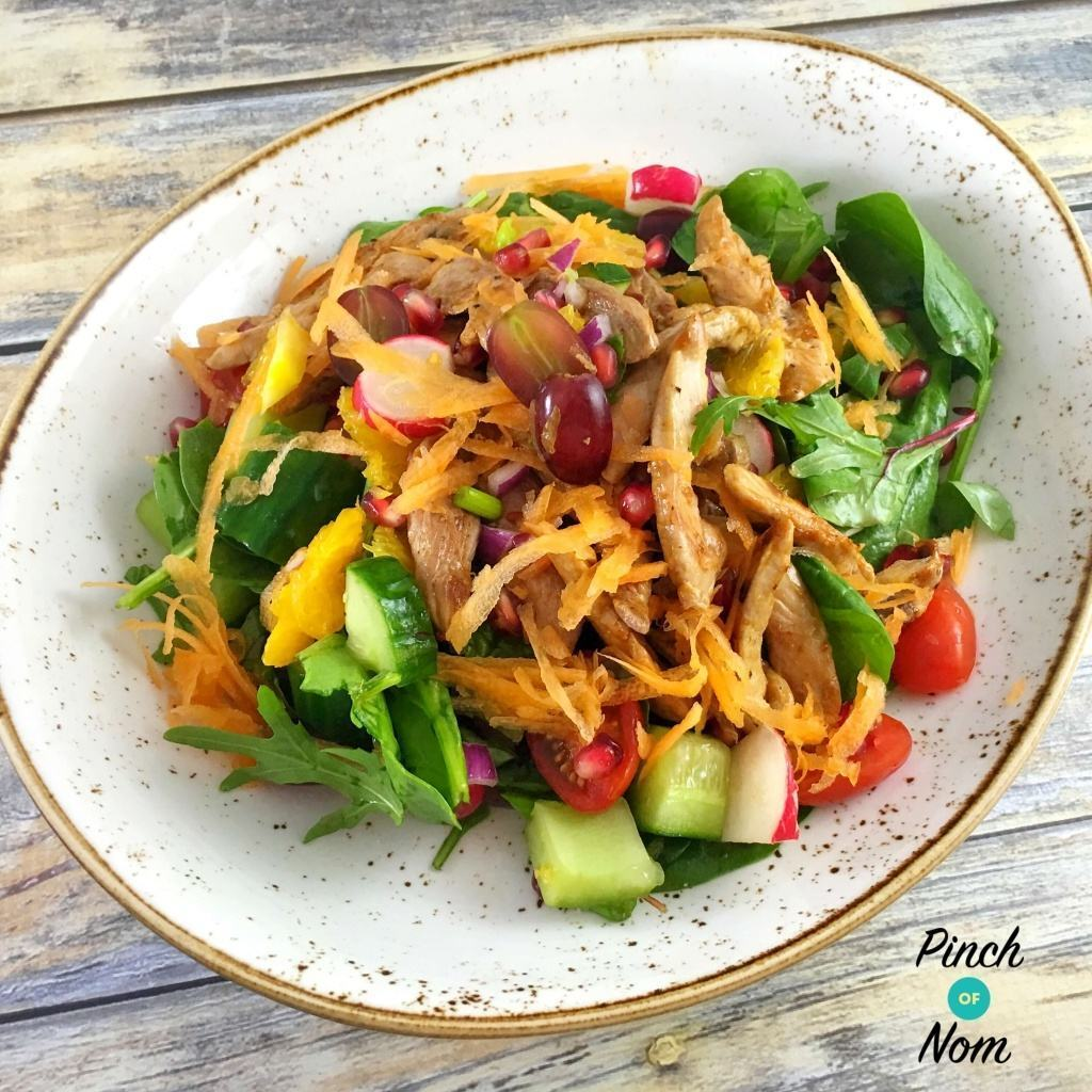Super Low Syn Sweet Chilli Duck Salad With Orange and Pomegranate | Slimming World