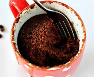 Easy clean eating mug cake