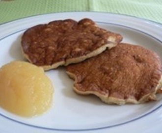 Oatmeal Pancakes (low fat, high fibre, clean)