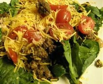 Taco Salad (low fat, Paleo with dairy)