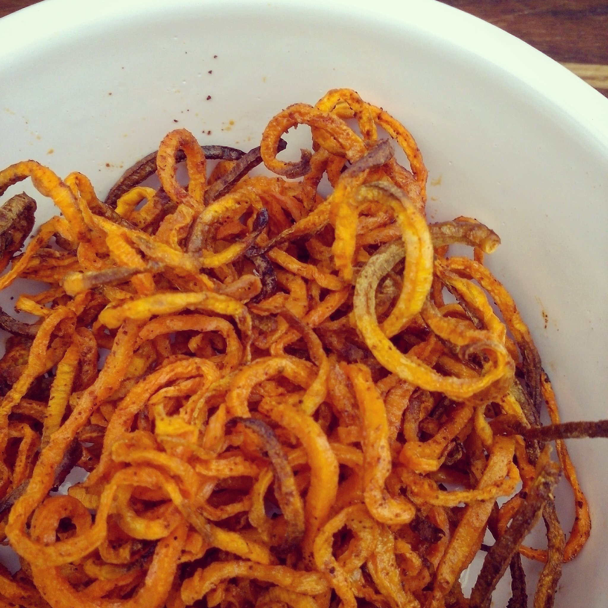 Easy ActiFry Spiralized Sweet Potato Fries