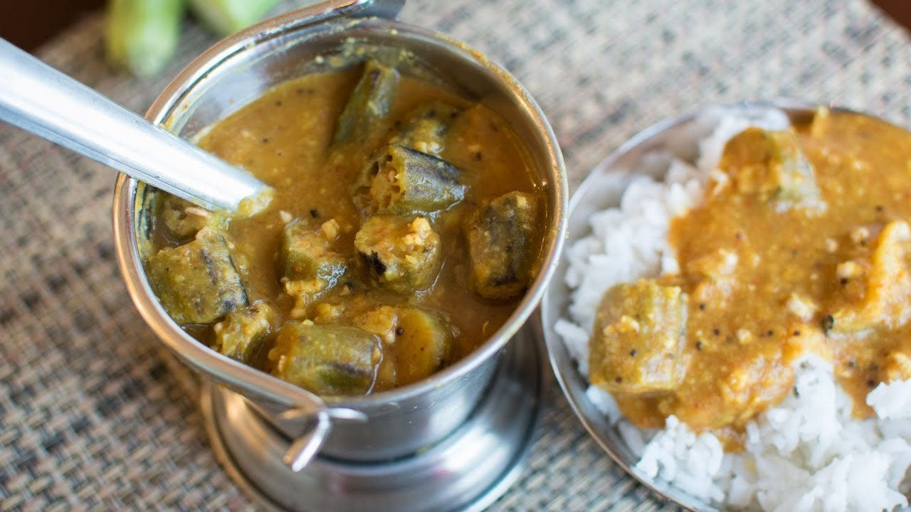 Bendekayi huLi | Bendekai Sambar | Okra Sambar | Ladies finger Sambar - YouTube