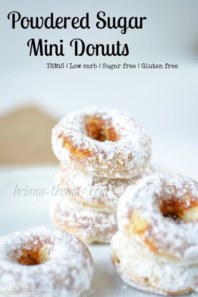 Powdered Sugar Mini Donuts